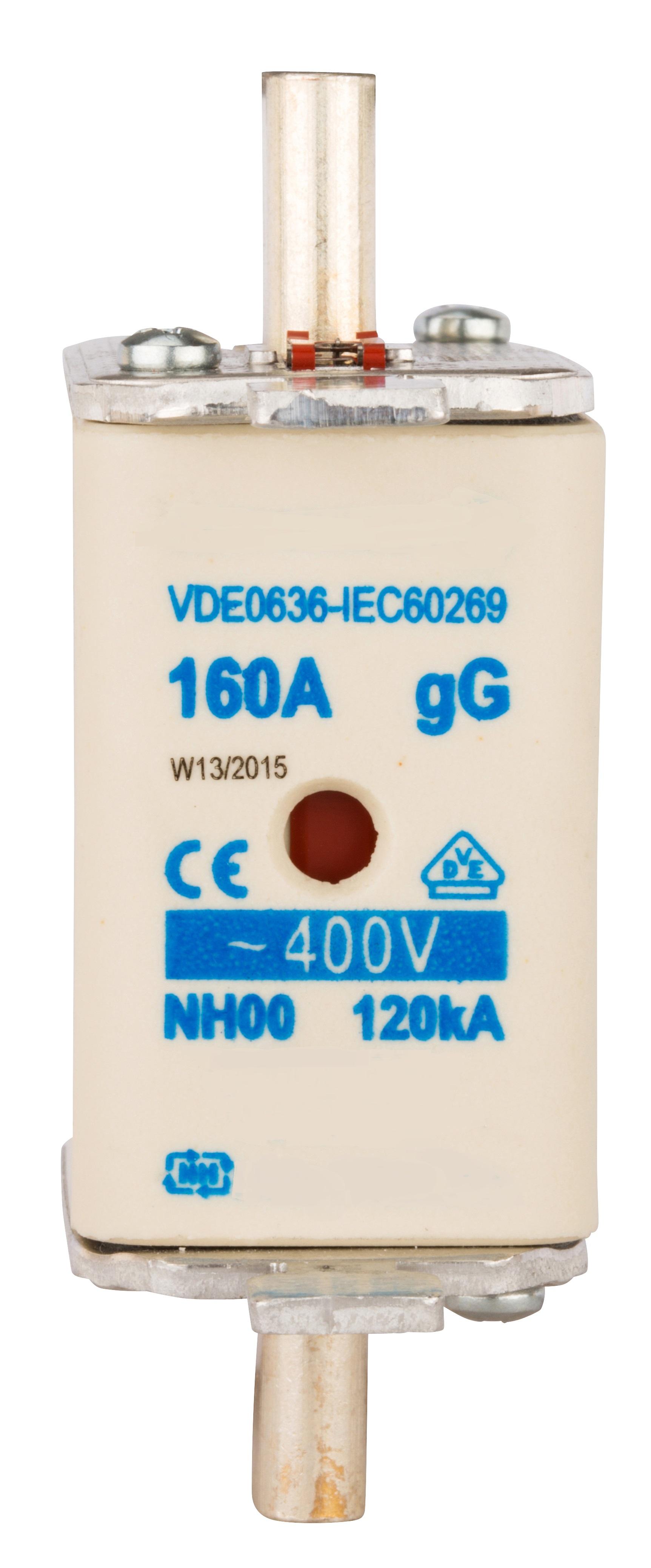 1 Stk NH-Sicherungseinsatz, Größe 00, 160A, 400V AC ISP00160--