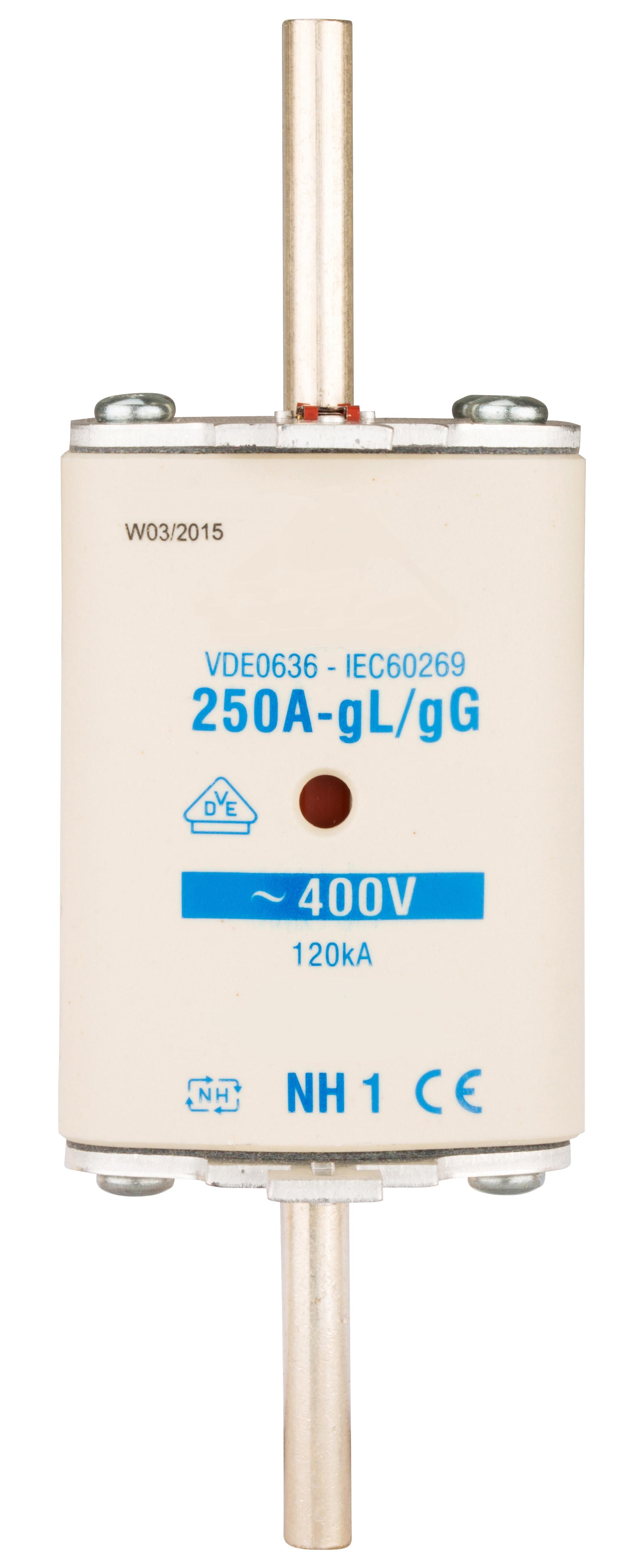 1 Stk NH-Sicherungseinsatz, Größe 1, 200A, 400V AC ISP01200--