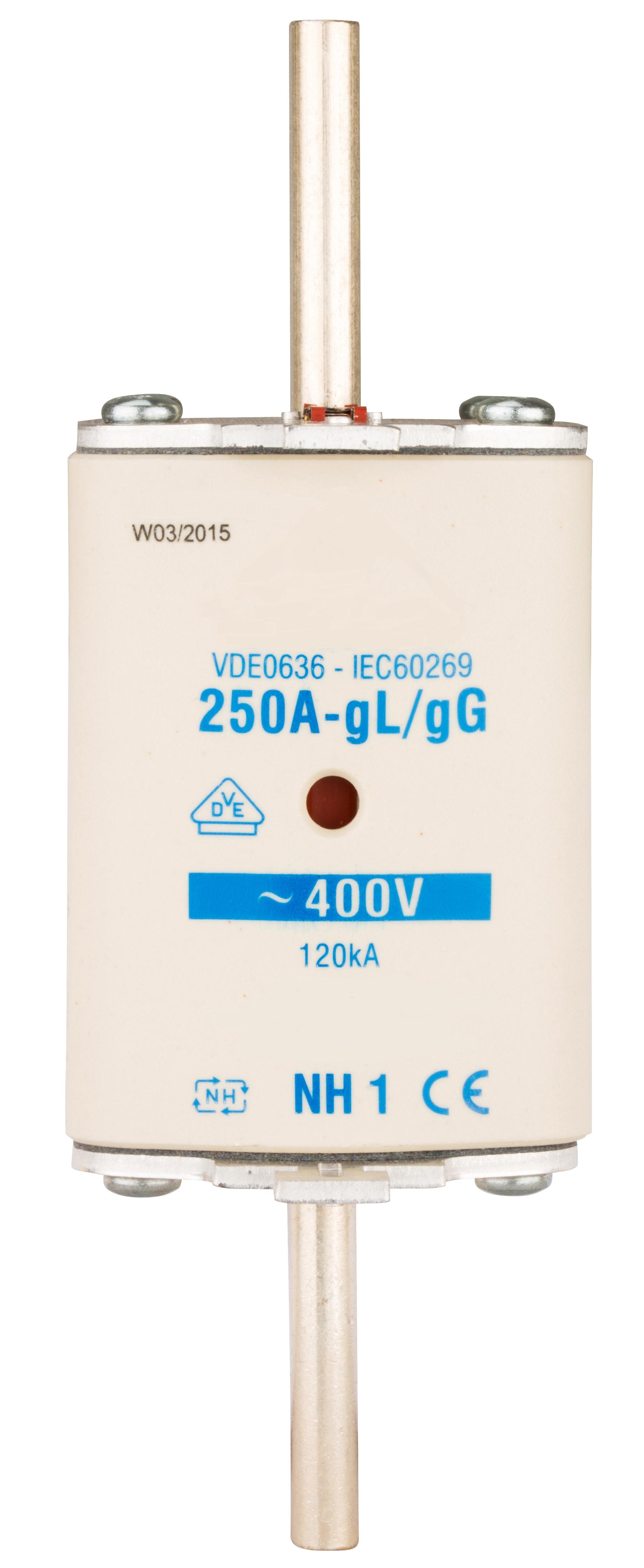 1 Stk NH-Sicherungseinsatz, Größe 1, 250A, 400V AC ISP01250--