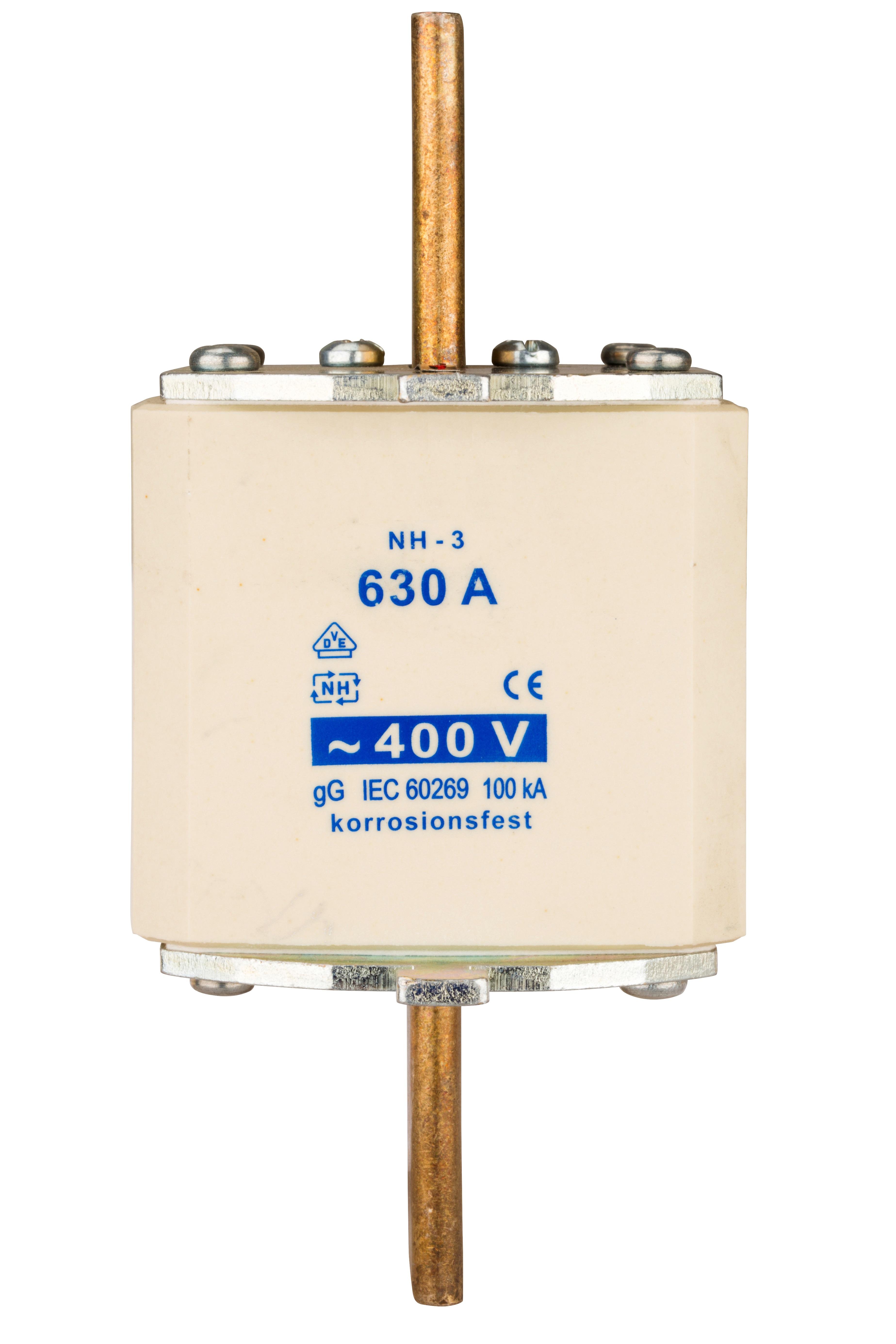 1 Stk NH-Sicherungseinsatz, Größe 3, 630A, 400V AC ISP03630--