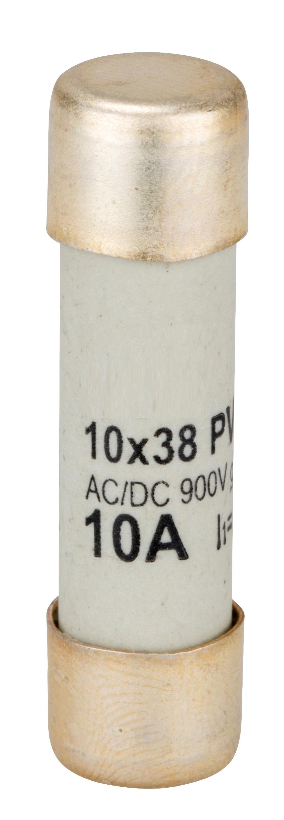 1 Stk Sicherung für Photovoltaik 10 x 38, 900V DC, 10A gR ISV10910--