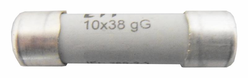 1 Stk Zylindrische Sicherung, 10x38, 2A, Kennlinie gG, 500V AC ISZ10002--
