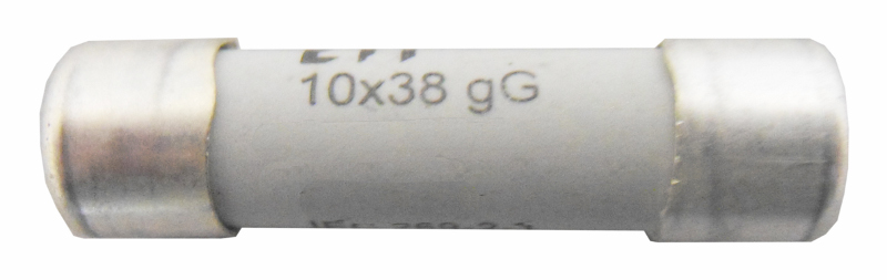 1 Stk Zylindrische Sicherung, 10x38, 4A, Kennlinie gG, 500V AC ISZ10004--