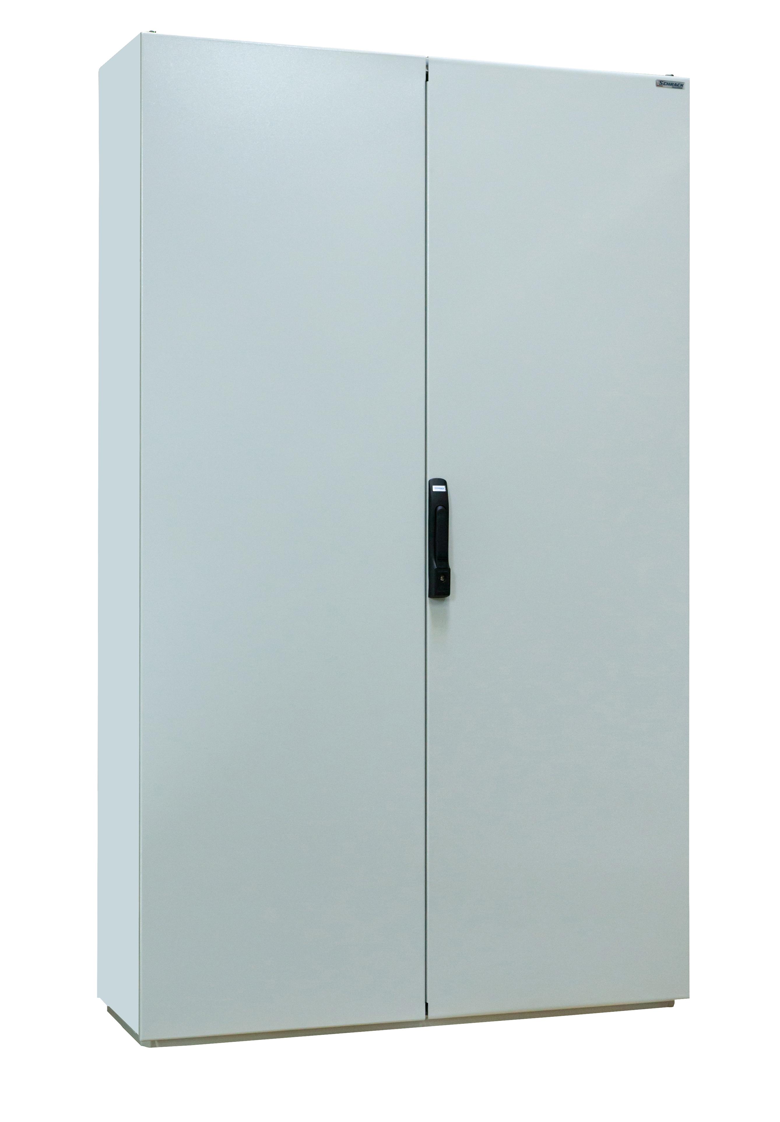 1 Stk Kompaktschrank 2-türig, 2000x1000x500mm, RAL 7035 KS201052-5