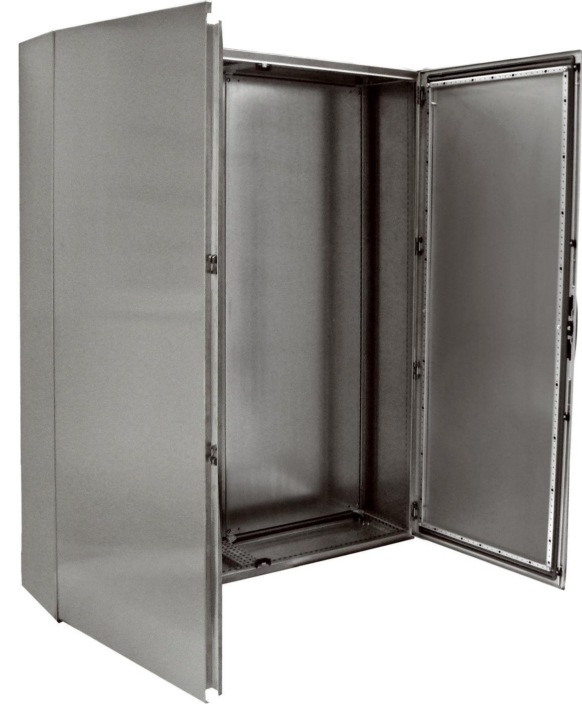 1 Stk Kompaktschrank Edelstahl 2-türig, 2000x1200x400mm, AISI 304L KSR201242-