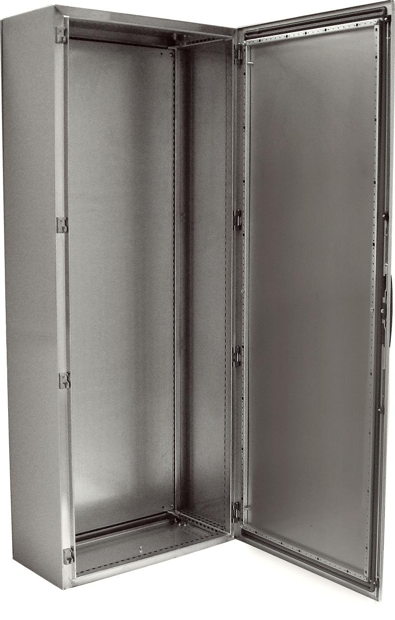 1 Stk Kompaktschrank Edelstahl 1-türig, 2000x800x400mm, AISI 304L KSR208040-