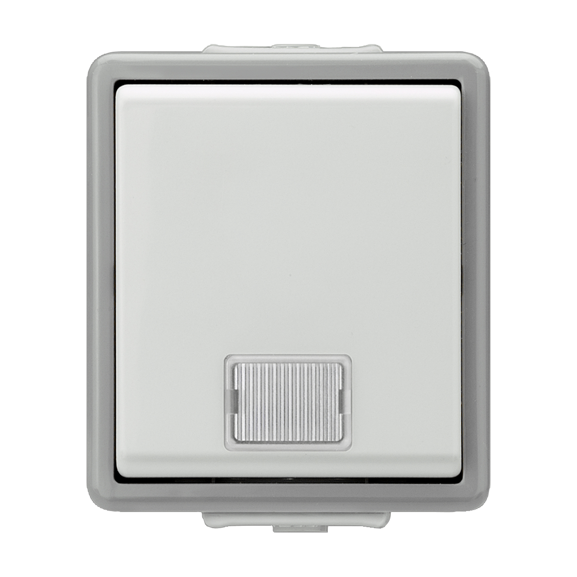 1 Stk Taster 1-fach, Aufputz, Tasterstellung, 1 LED, IP44, grau KX1153AB21
