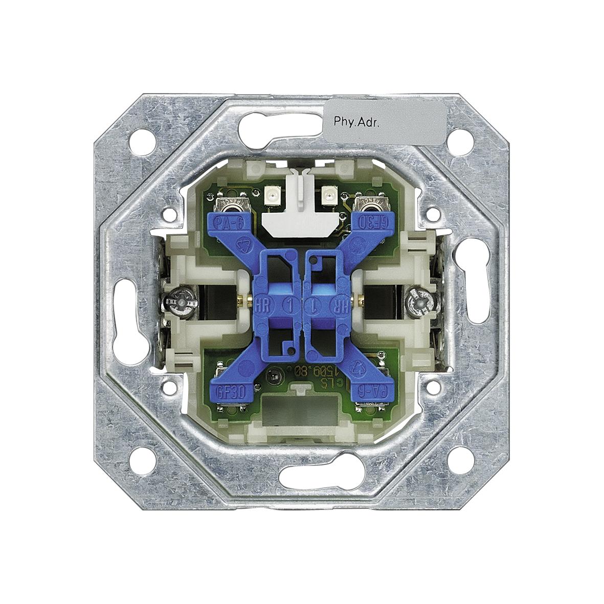1 Stk DELTA Busankoppler, 2-fach, Mittelstellung, mit 2 LEDs KX1162AB11