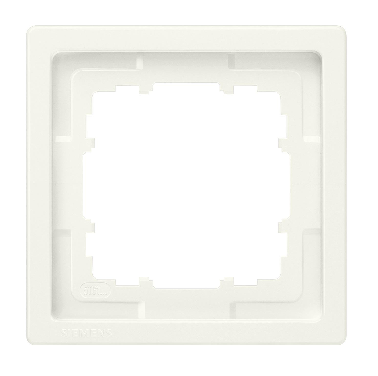 1 Stk Rahmen, Style, titanweiß, 1-fach  KX1321----