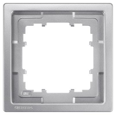 1 Stk Rahmen, Style, platinmetallic, 1-fach KX13211---