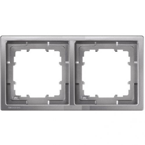 1 Stk Rahmen, Style, platinmetallic, 2-fach KX13221---