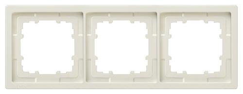 1 Stk Rahmen, Style, titanweiß, 3-fach  KX1323----