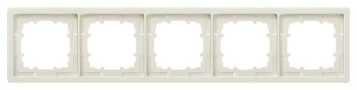 1 Stk Rahmen, Style, titanweiß, 5-fach  KX1325----