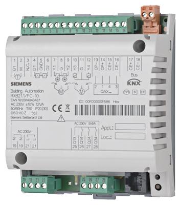 1 Stk Raum-Controller für 1-3-stufige Ventilator u. Lufterwärmer KX211FC12-