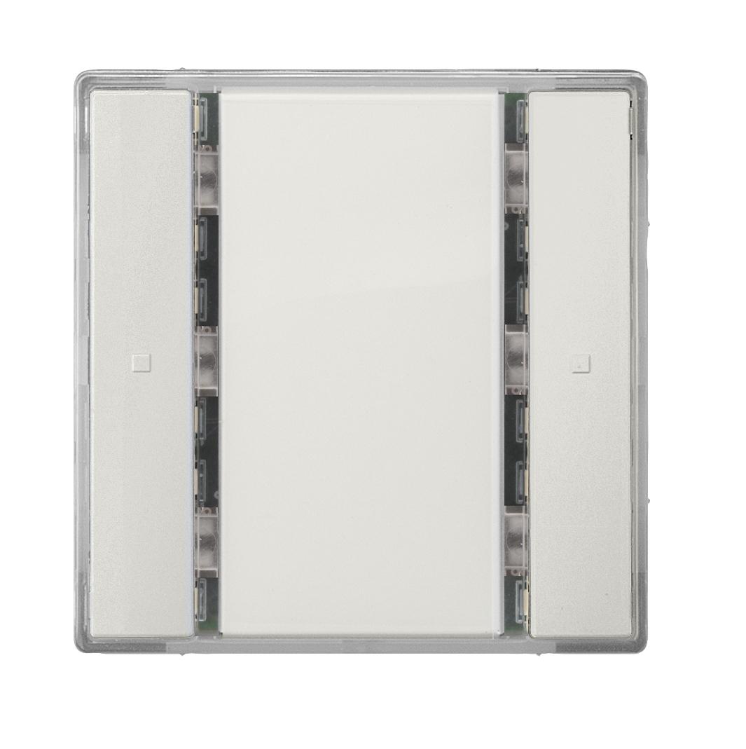 1 Stk Taster 1-fach ohne Status-LED, i-system, titanweiß KX2212DB12