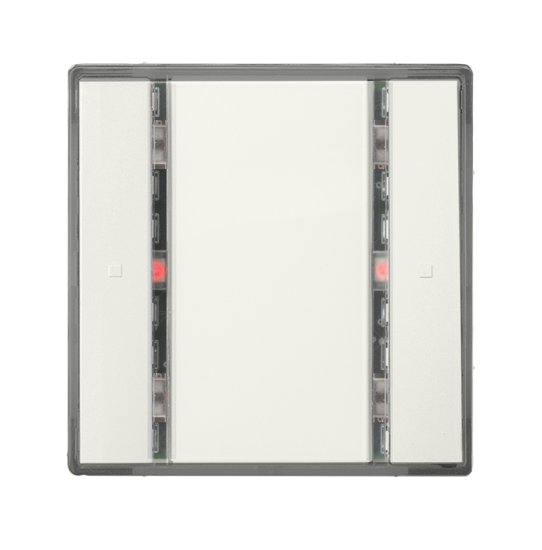 1 Stk Taster 1-fach mit Status-LED, i-system, titanweiß KX2212DB13