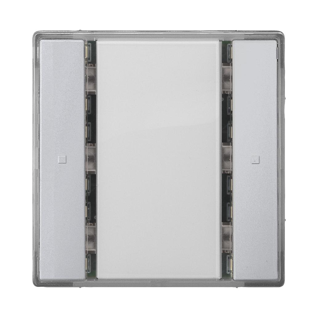 1 Stk Taster 1-fach ohne Status-LED, i-system, aluminiummetallic KX2212DB32