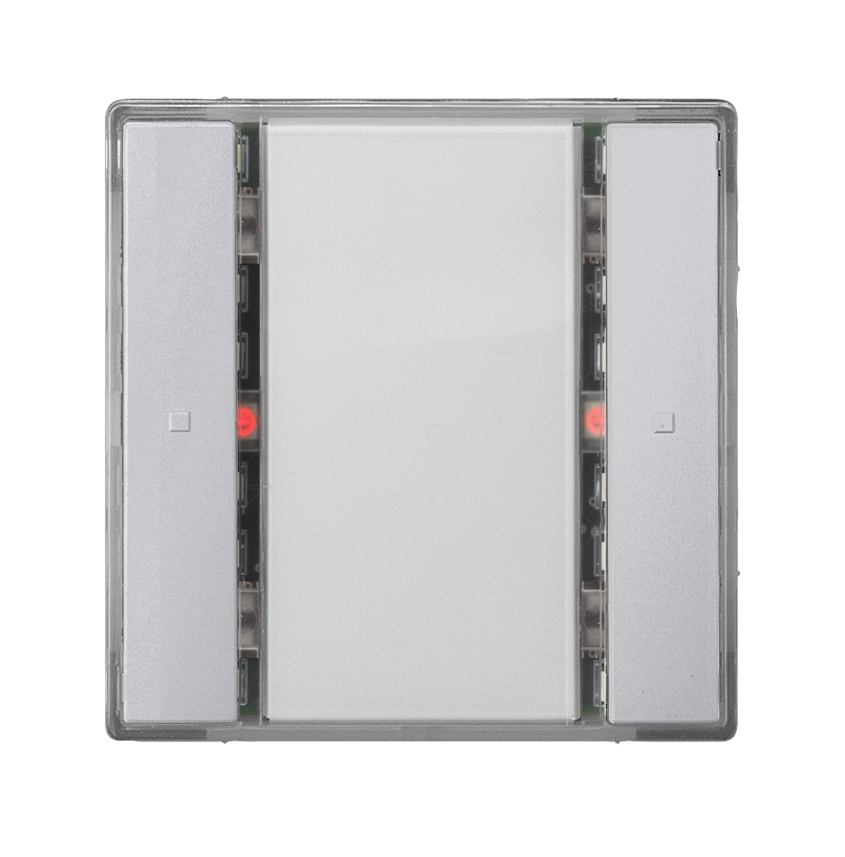 1 Stk Taster 1-fach mit Status-LED, i-system, aluminiummetallic KX2212DB33