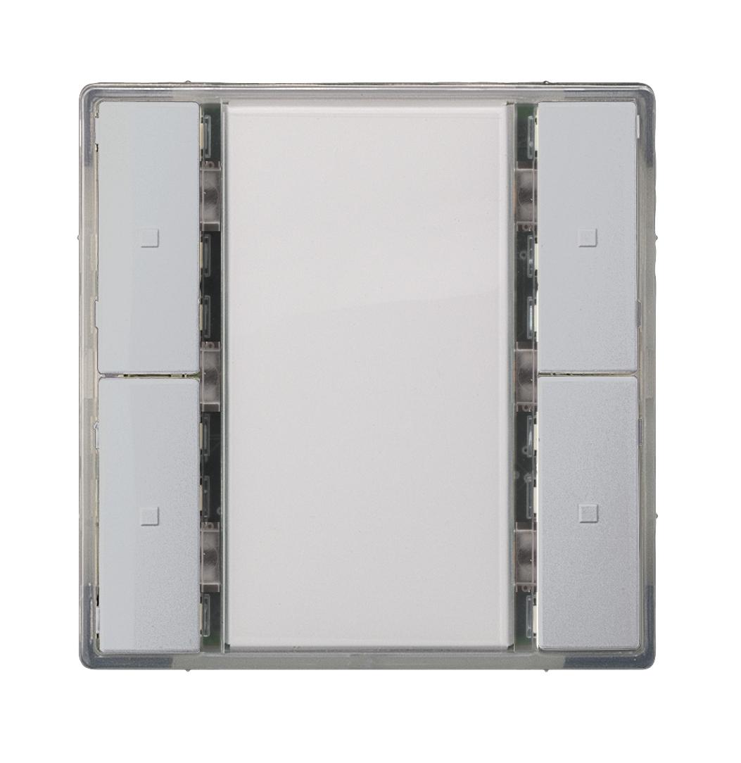 1 Stk Taster 2-fach ohne Status-LED, i-system, aluminiummetallic KX2222DB32