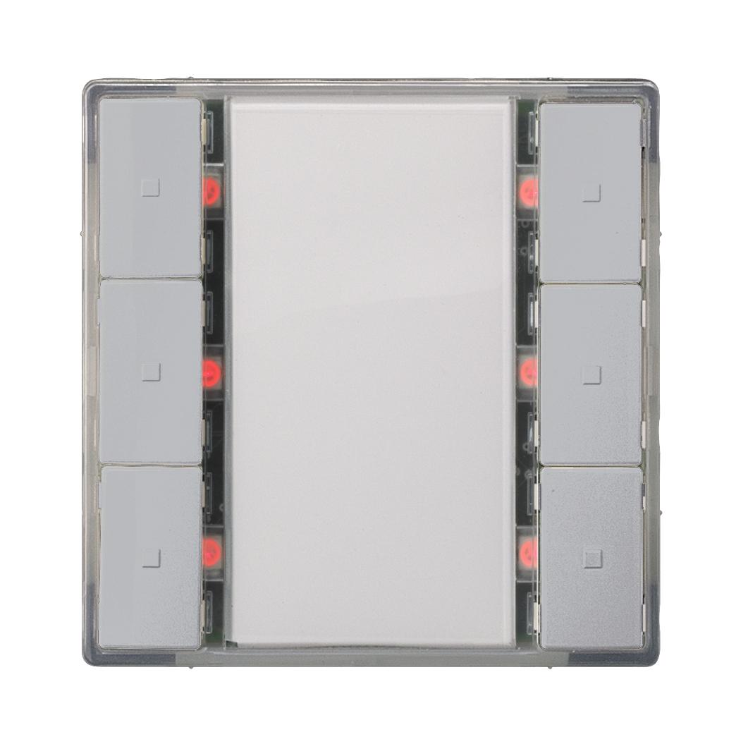 1 Stk Taster, 3-fach mit Status-LED, i-system, aluminiummetallic KX2232AB34