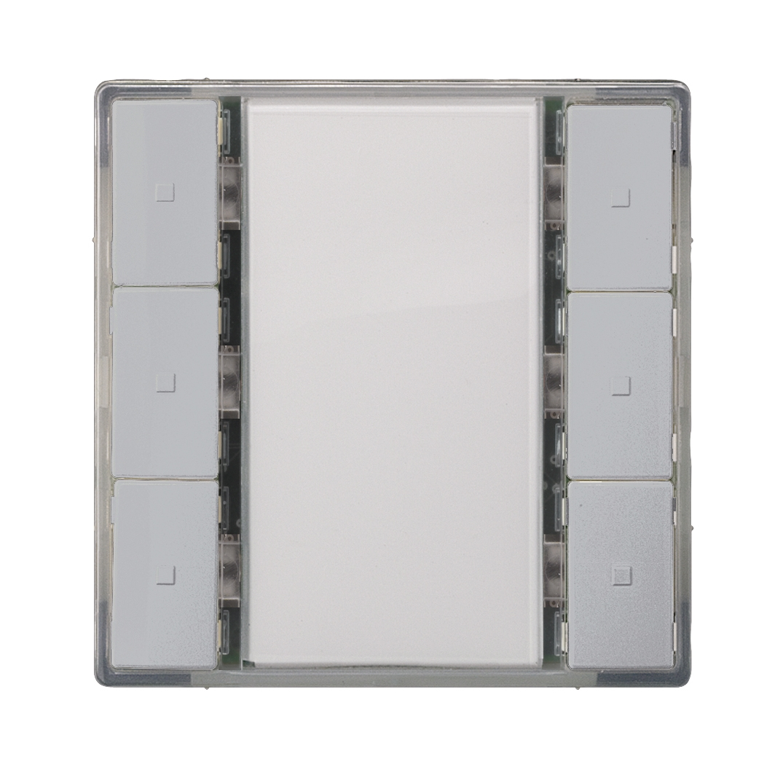 1 Stk Taster 3-fach ohne Status-LED, i-system, aluminiummetallic KX2232DB32