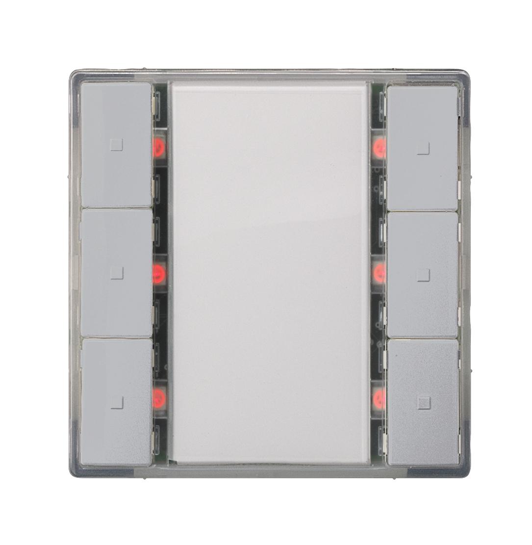 1 Stk Taster 3-fach mit Status-LED, i-system, aluminiummetallic KX2232DB33