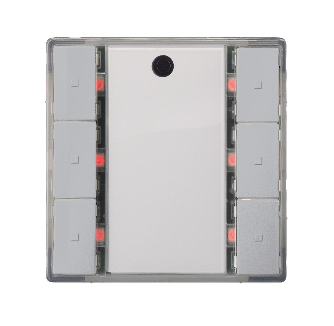 1 Stk Taster 3-fach mit Status-LED, i-system, aluminiummetallic KX2232DB35