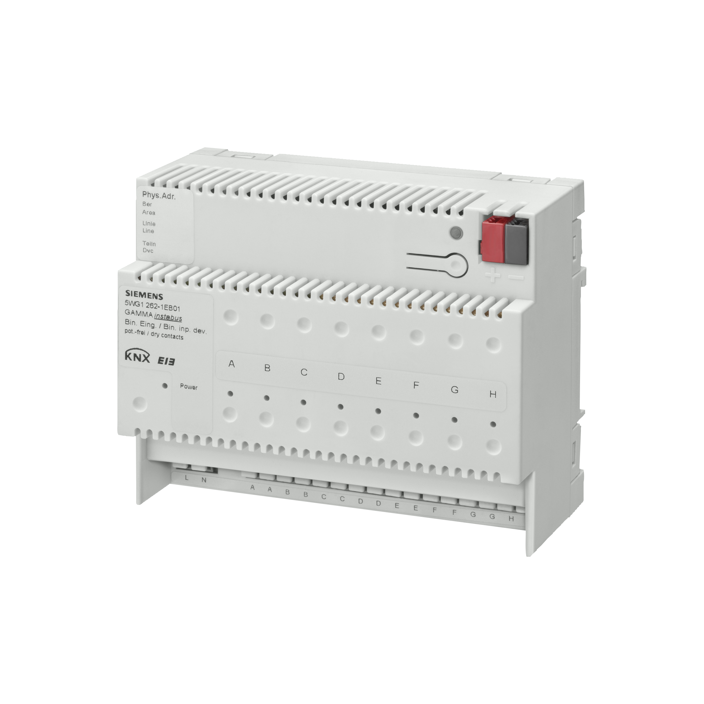 1 Stk Binäreingabegerät, 8 Eingänge für potentialfreie Kontakte KX2621EB01