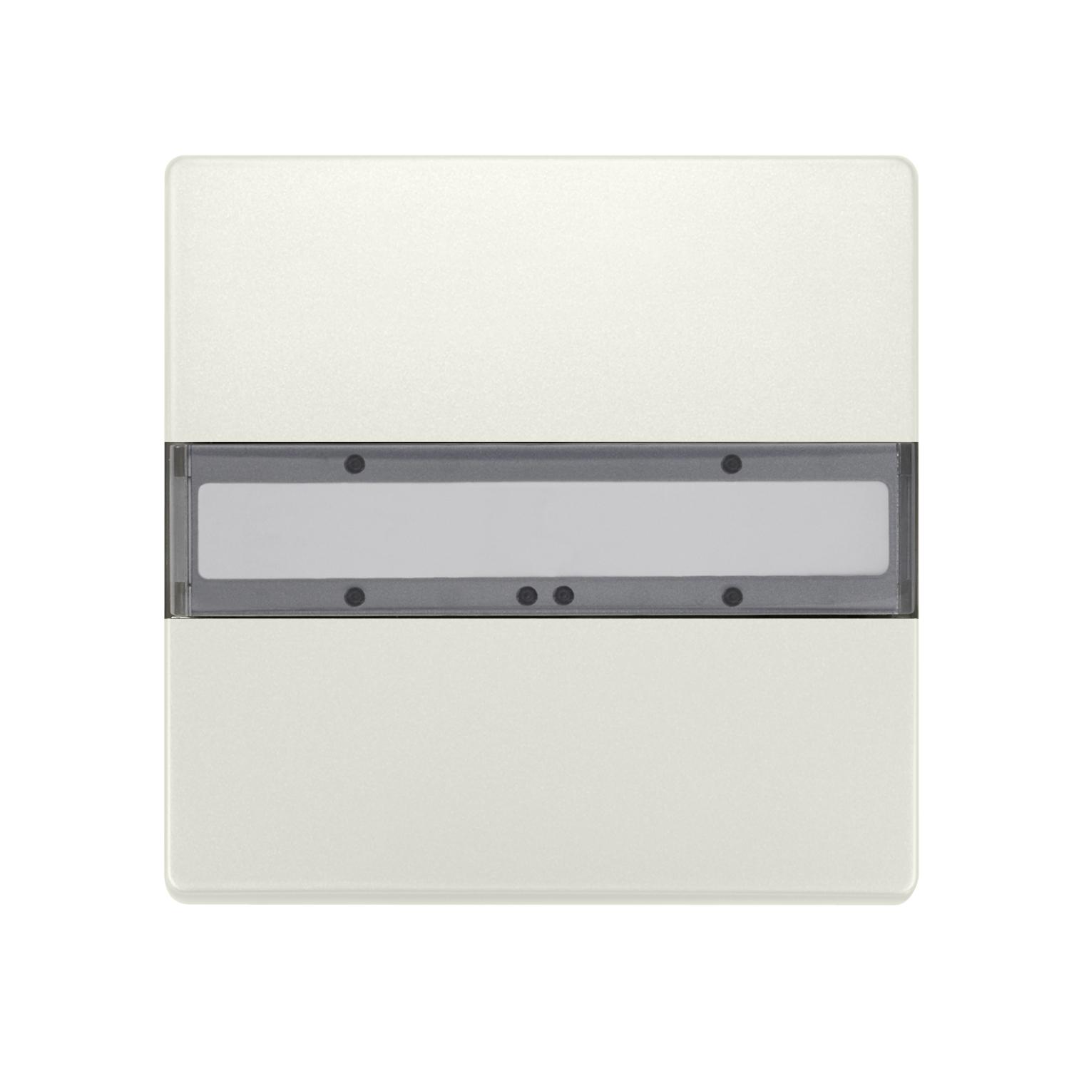 1 Stk Taster 1-fach ohne Status-LED, DELTA style, titanweiß KX2852DB12