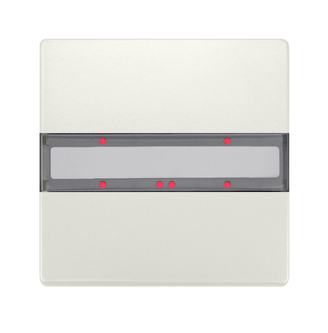 1 Stk Taster 1-fach mit Status-LED, DELTA style, titanweiß KX2852DB13
