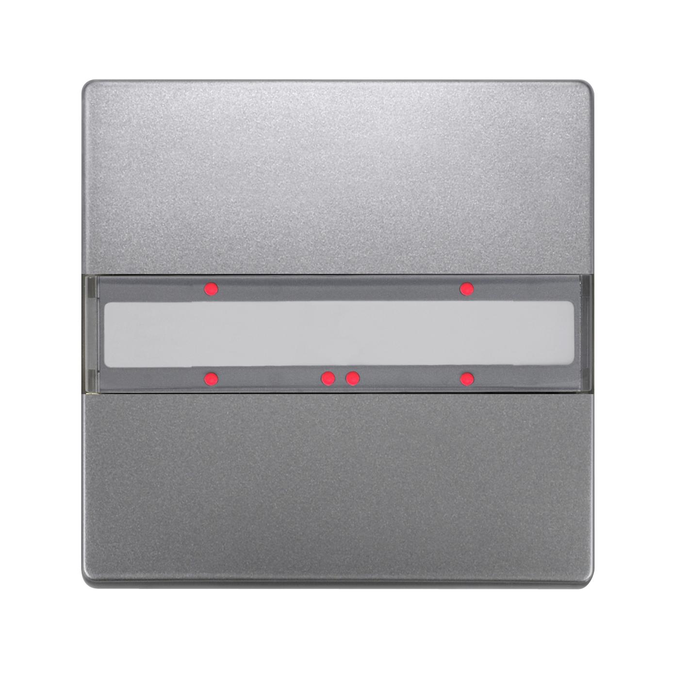 1 Stk Taster 1-fach mit Status-LED, DELTA style, platinmetallic KX2852DB43