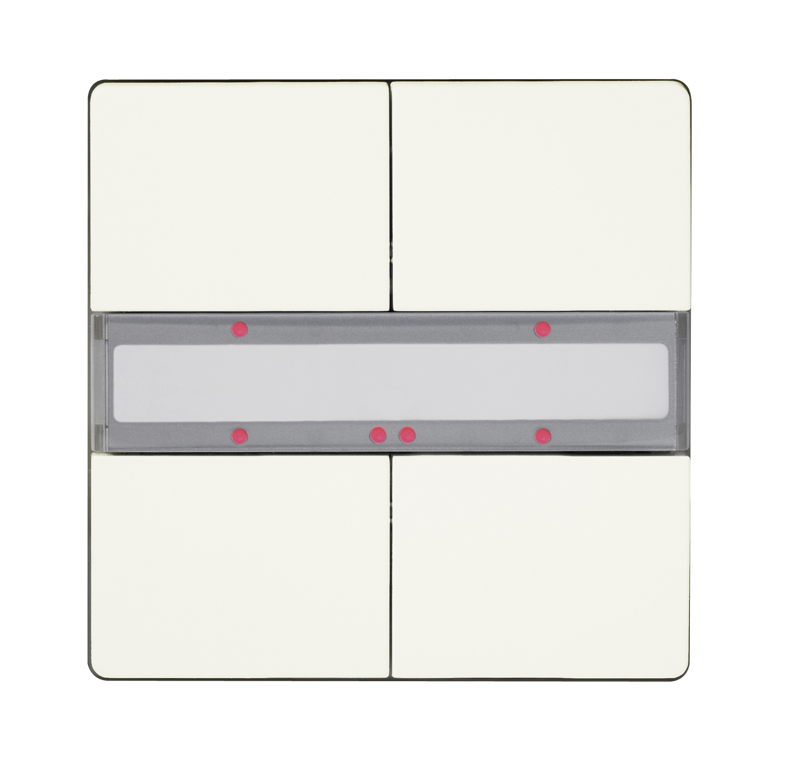 1 Stk Taster 2-fach mit Status-LED, DELTA style, titanweiß KX2862DB13