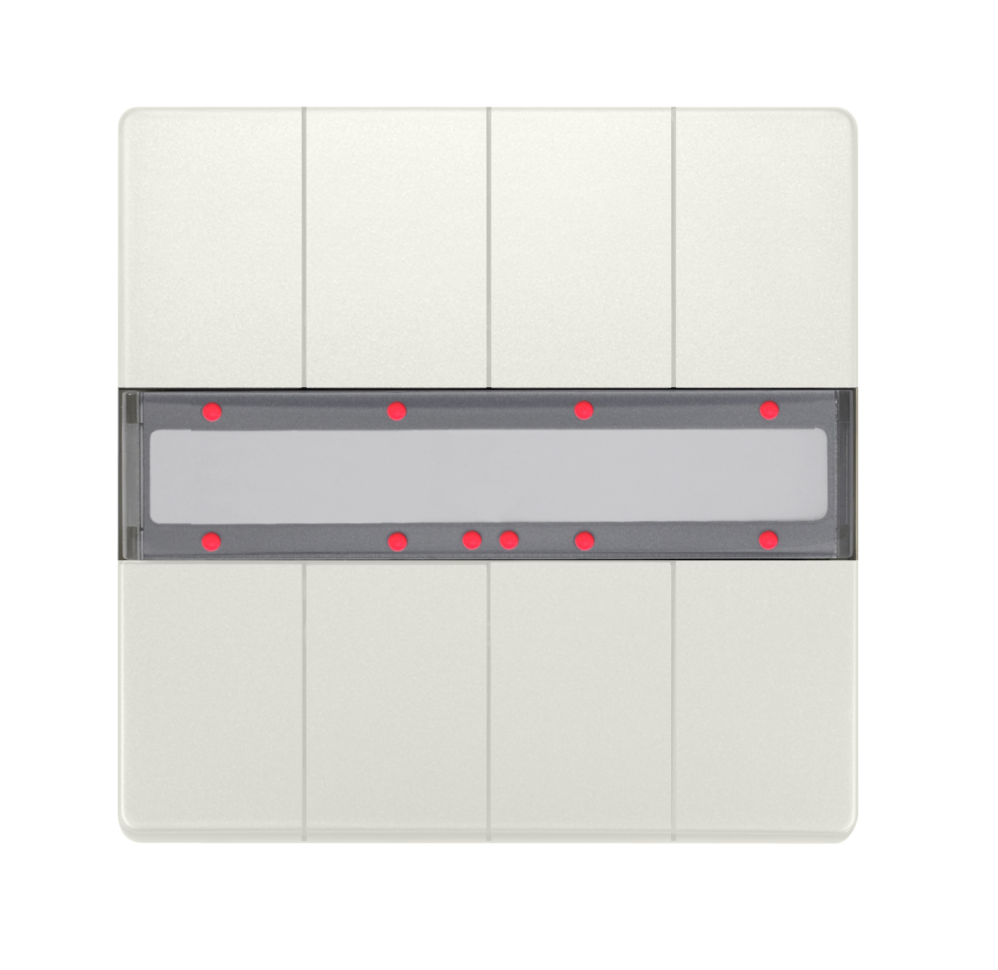 1 Stk Taster, 4-fach mit Status-LED, DELTA style, titanweiß KX2872AB14