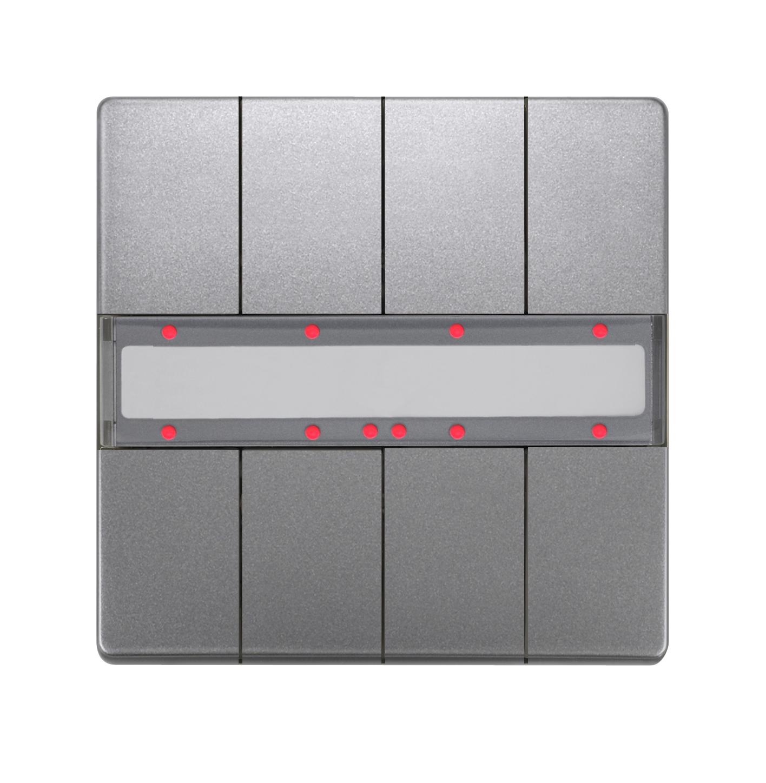 1 Stk Taster, 4-fach mit Status-LED, DELTA style, platinmetallic KX2872AB44