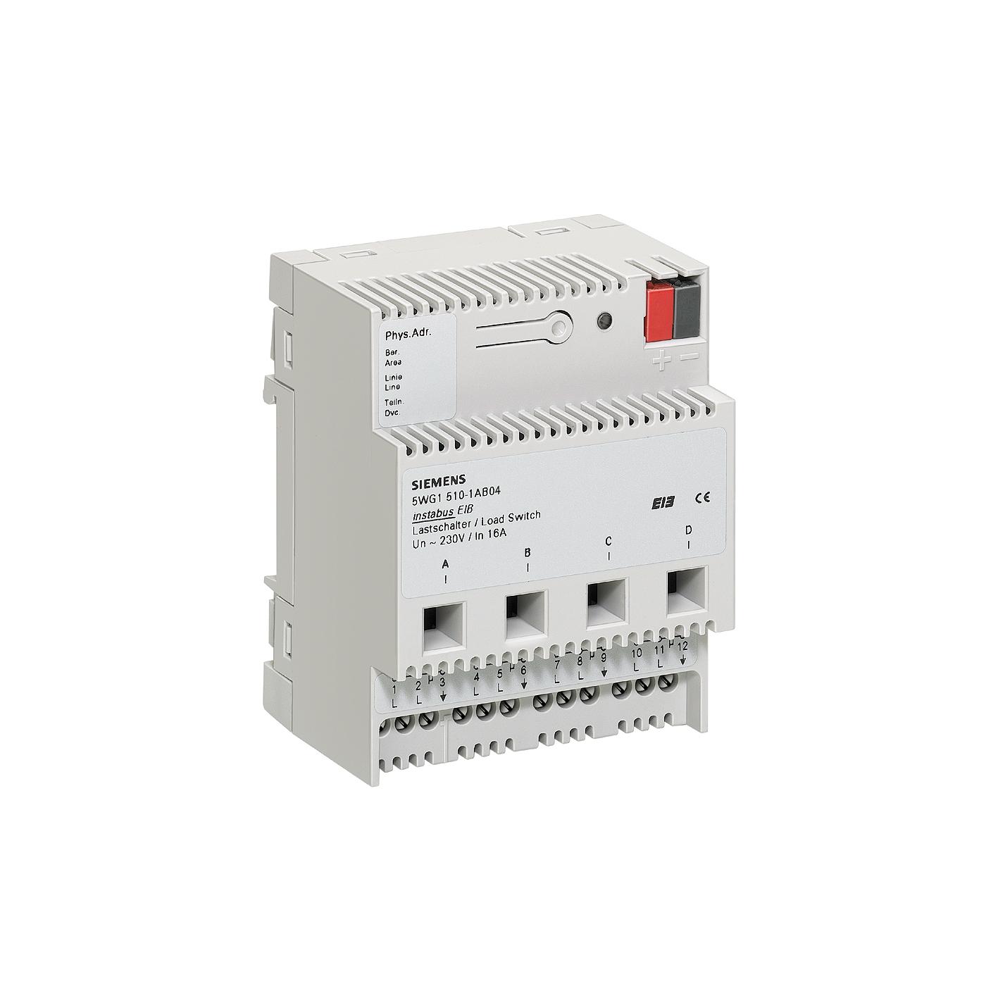 1 Stk Lastschalter, 4 x AC 230 V, 16 A, C-Last KX5101AB04