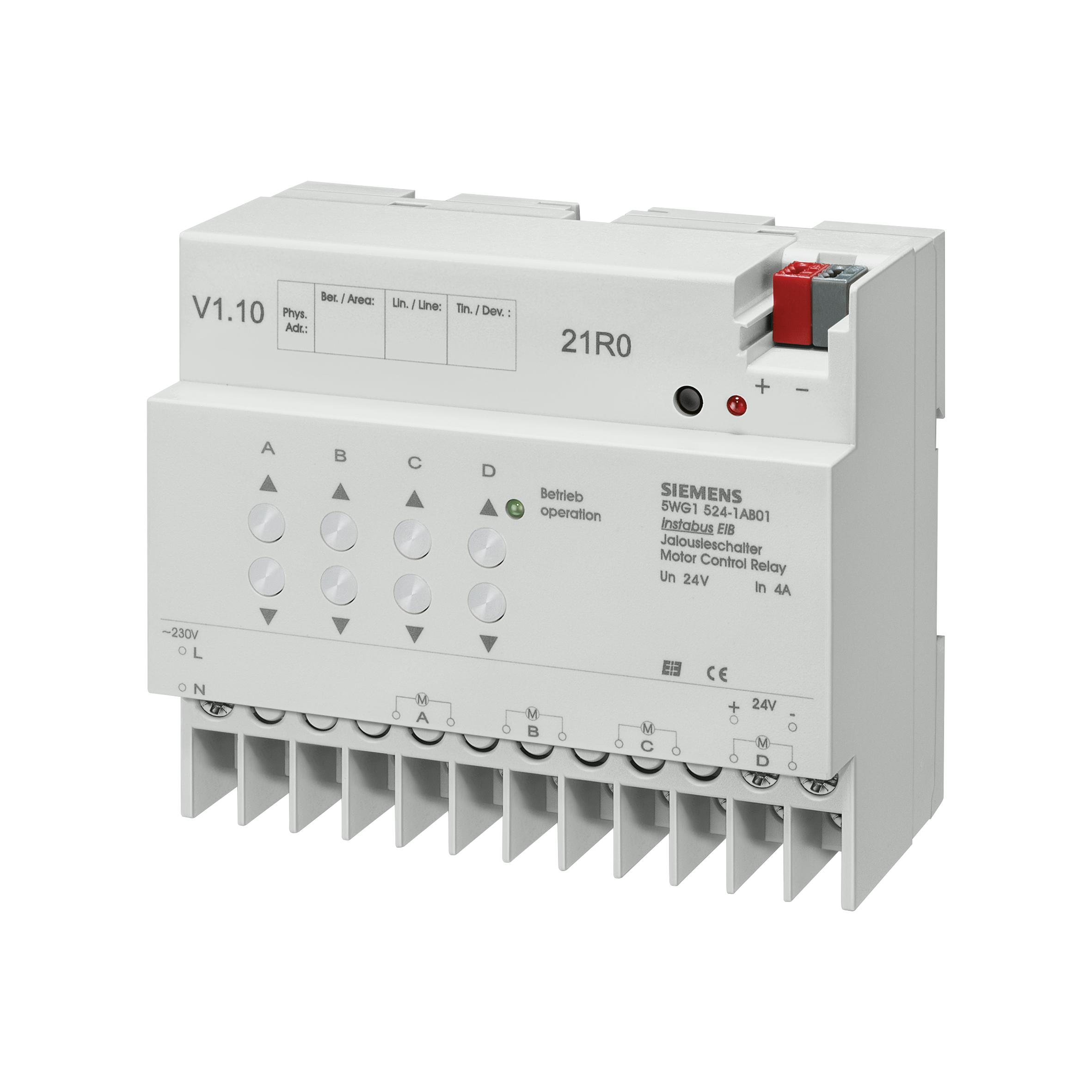 1 Stk Jalousieaktor, 4 x DC 6...24 V, 1 A KX5241AB01