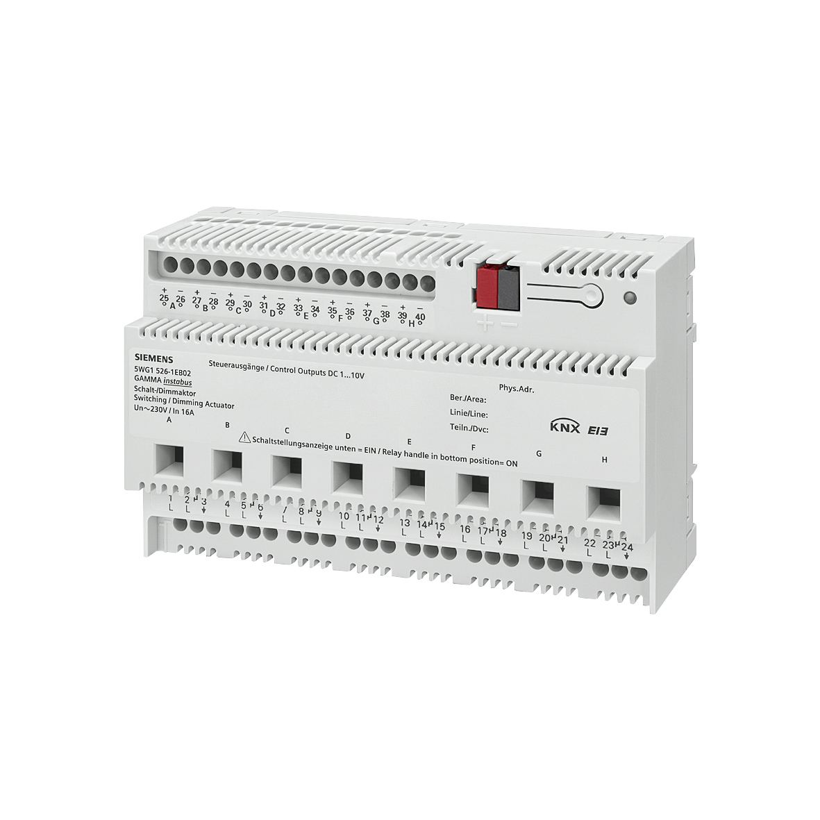 1 Stk Schalt-/Dimmaktor, 8 x AC 230 V, 16 A, 1 ... 10 V KX5261EB02