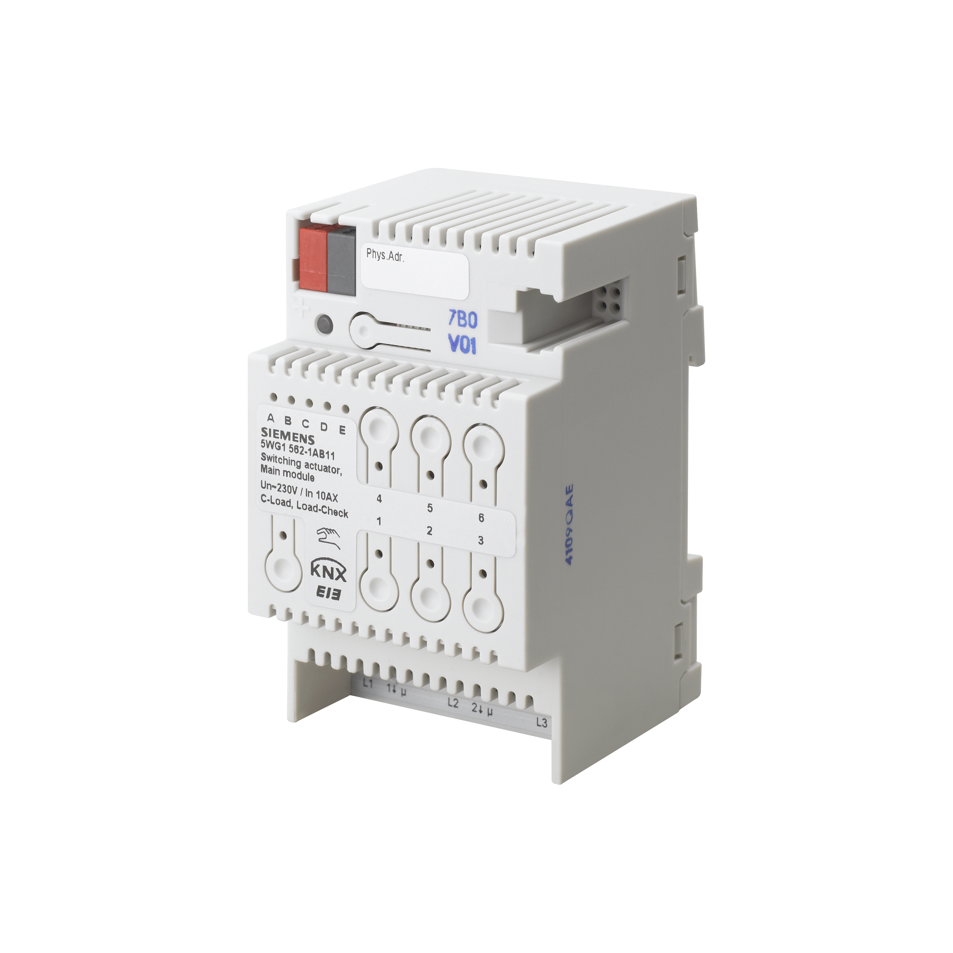 1 Stk Schaltaktor, Hauptmodul, 3 x AC 230/400 V, 10 AX KX5621AB11
