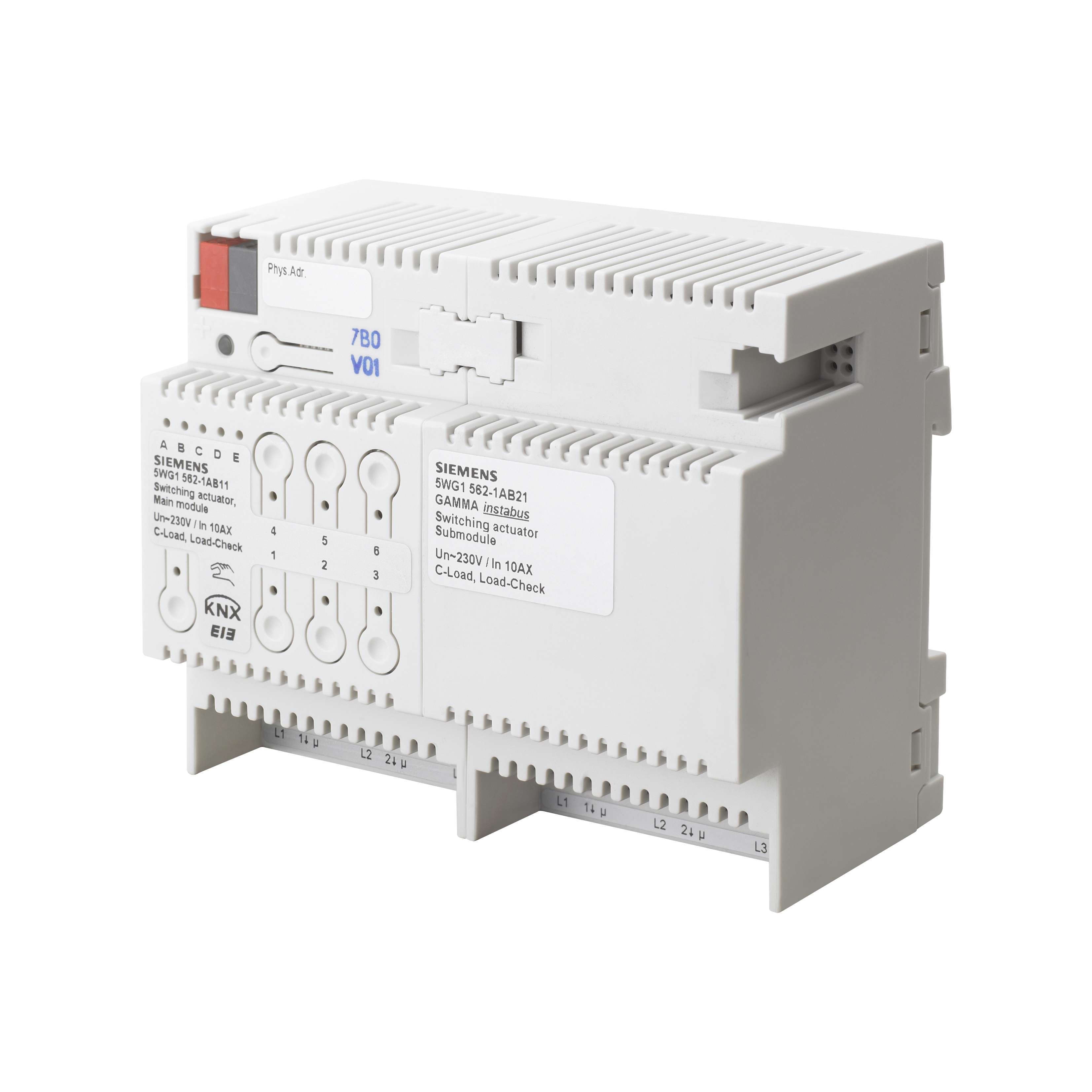 1 Stk Schaltaktor Erweiterungsmodul, 3 x AC 230/400 V, 10 AX KX5621AB21