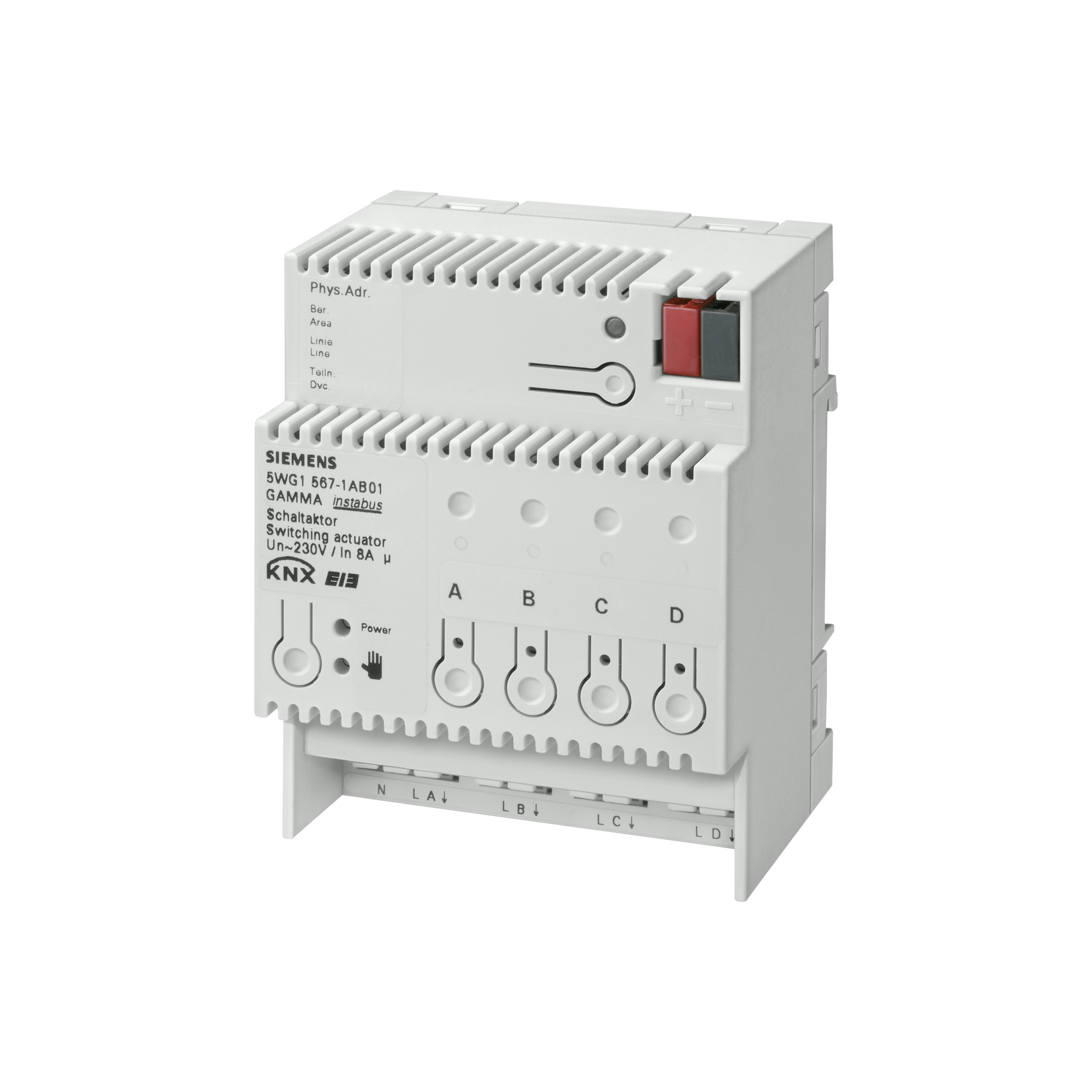1 Stk Schaltaktor 4 x AC 230 V, 8 A KX5671AB01
