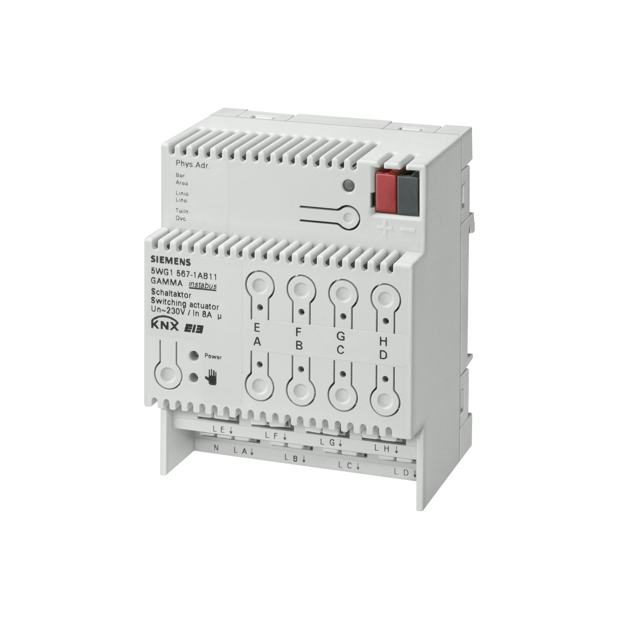 1 Stk Schaltaktor 8 x AC 230 V, 8 A KX5671AB11