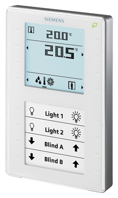 1 Stk Raumbediengerät mit Display u. Tasten, Fühler f. Temperatur KX624H108-