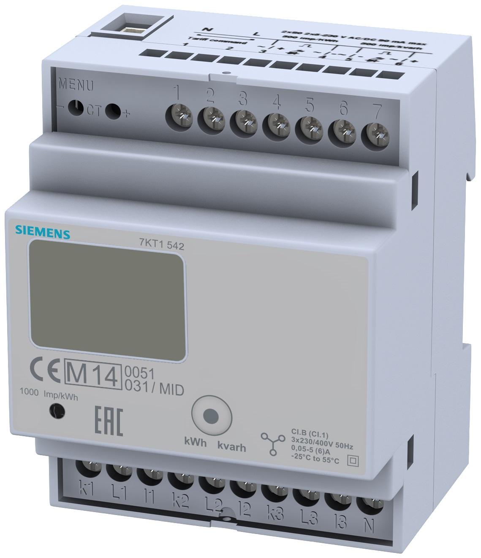 1 Stk 3-Phasen-Zähler, Wandleranschluss, 5A, MID KX7KT1542-