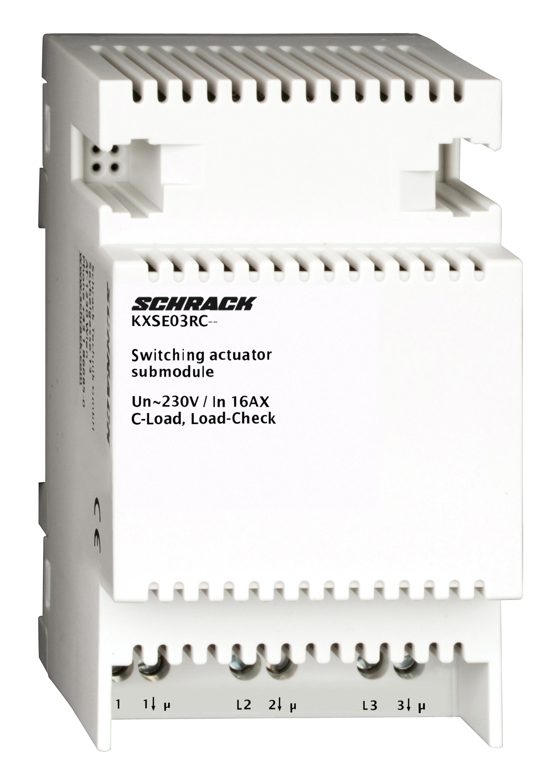 1 Stk KNX Schaltaktor, Erweiterungsmodul, 3 x AC 230/400V, 16 AX KXSE03RC--