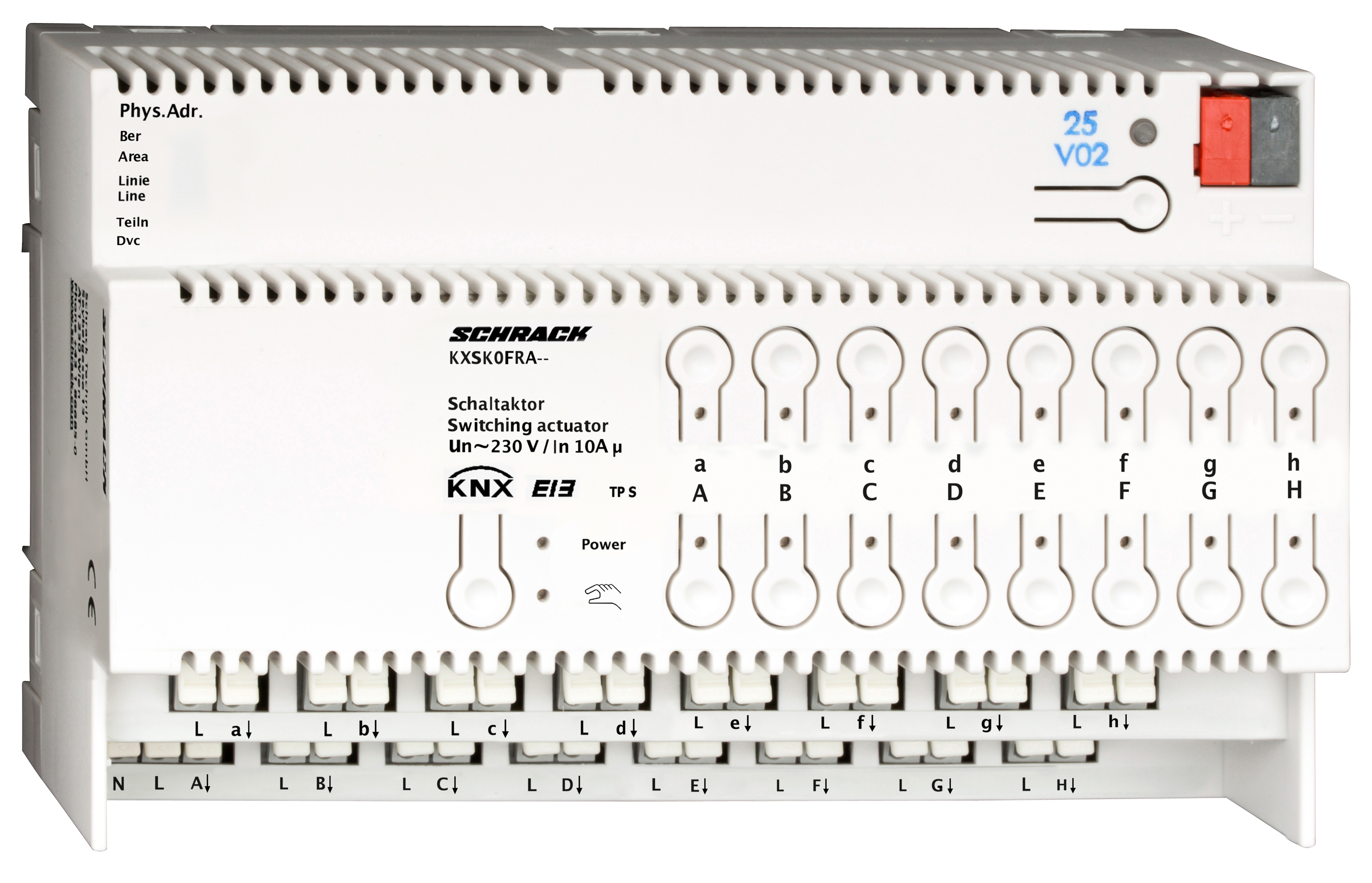 1 Stk KNX Schaltaktor, 16 x AC 230V, 10(16)A KXSK0FRA--