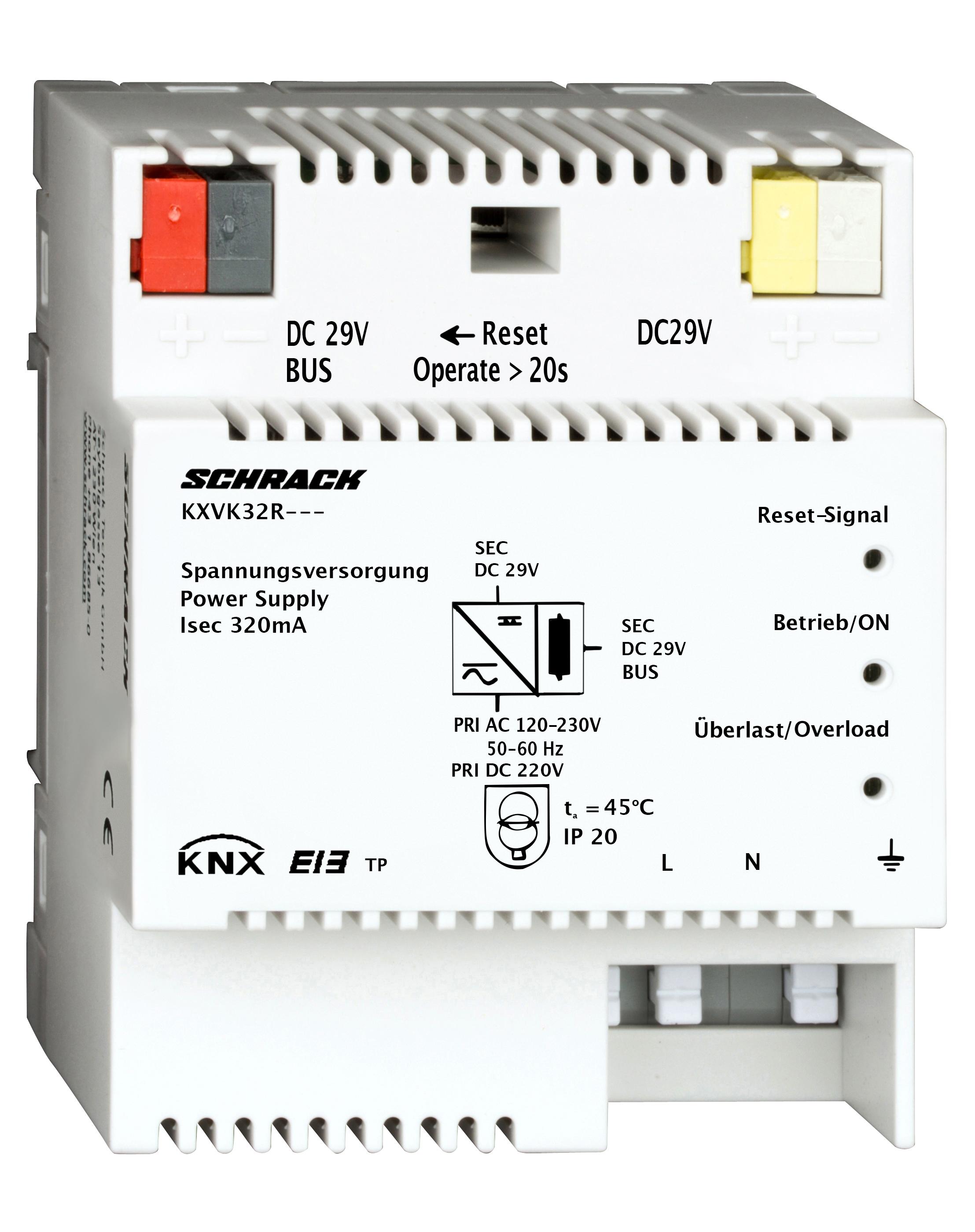 1 Stk KNX Spannungsversorgung, DC 29V, 320mA KXVK32R---