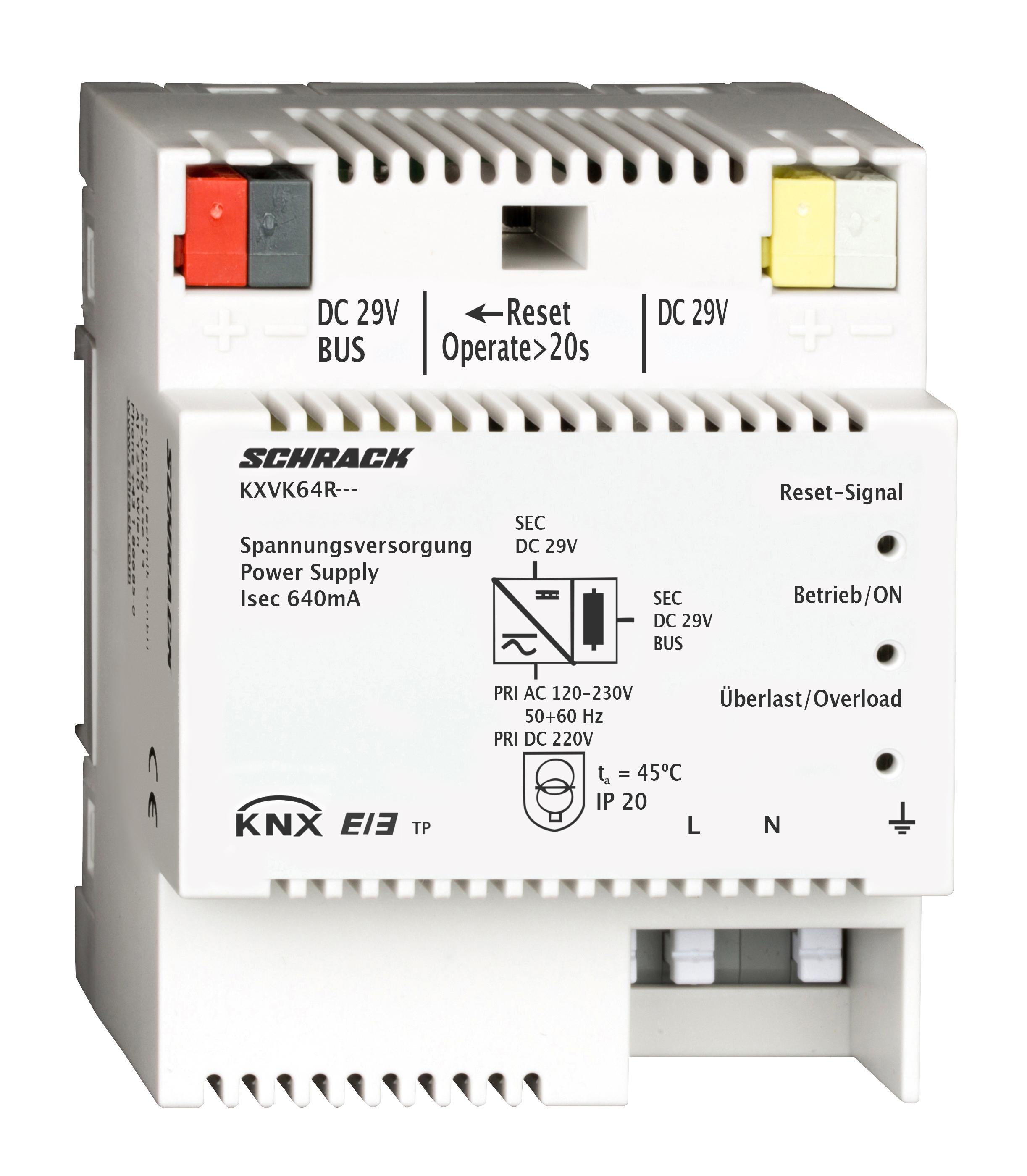 1 Stk KNX Spannungsversorgung, DC 29V, 640mA KXVK64R---