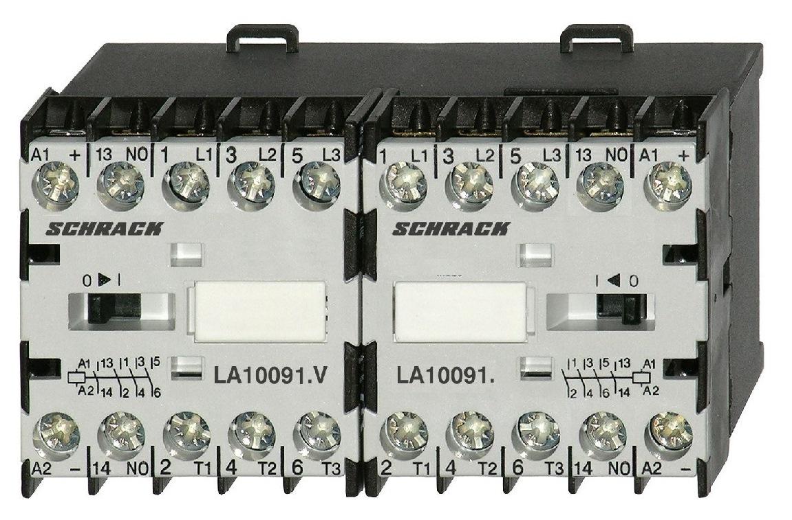 1 Stk Mini-Wendeschütz 4kW 24VAC, mit Schließer LA1W09W010