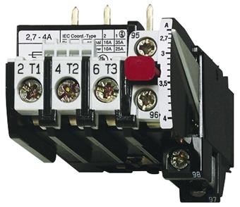 1 Stk Motorschutzrelais 2,7-4A U12/16E...K3 Hand-Reset LA300108K3