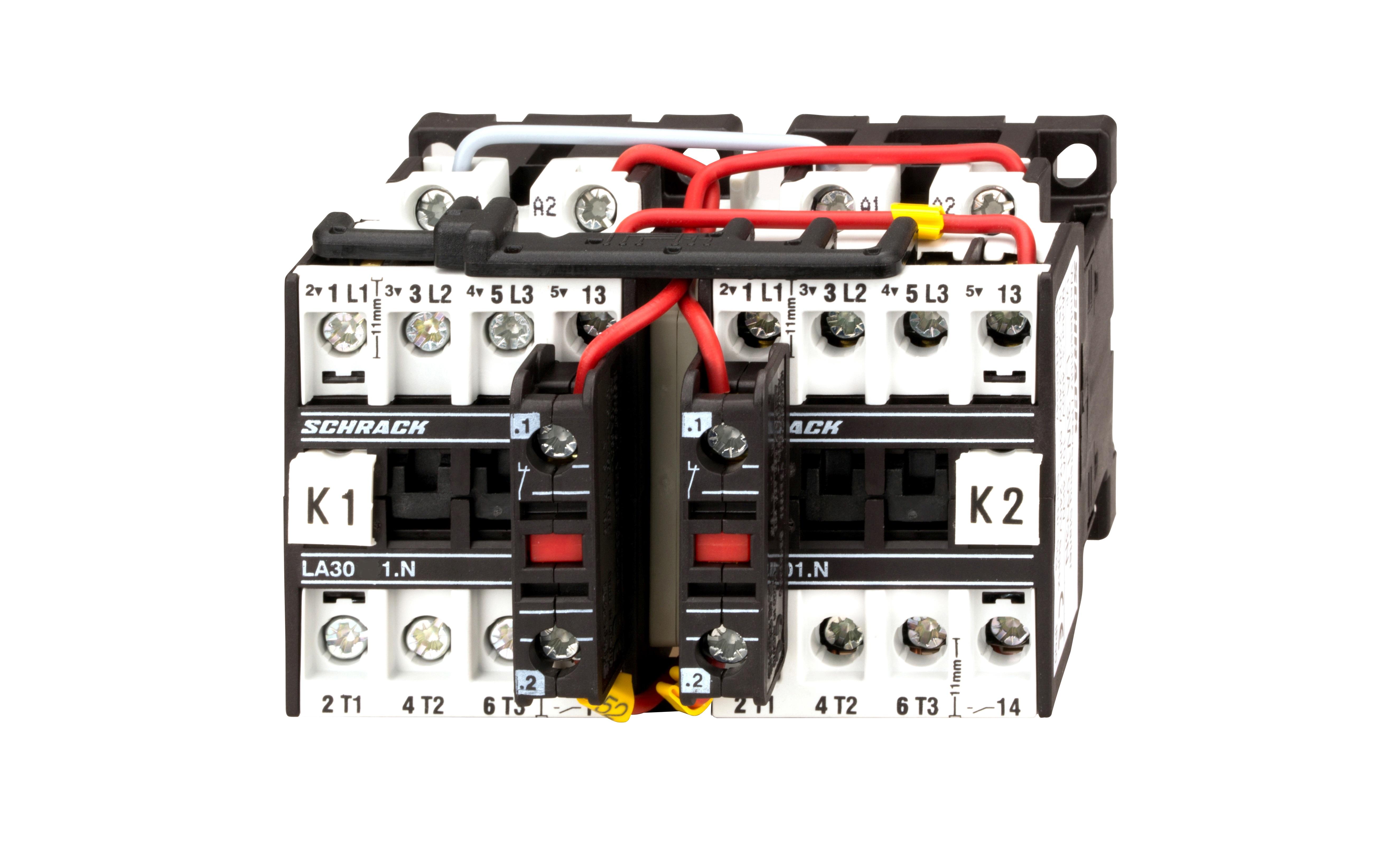 1 Stk Wendeschützkombination 10A, 4kW, 230VAC LA3W10W3--